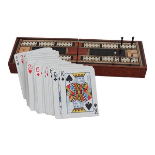 English Cribbage Game Box For Sale