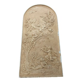 1960s Cherub Arched Plaster Relief For Sale