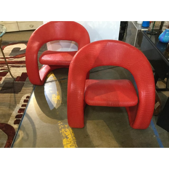1980s Vintage Modern Chairs- A Pair For Sale - Image 4 of 4