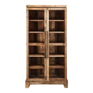 Contemporary Restoration Hardware Camino Glass Double-Door Cabinet