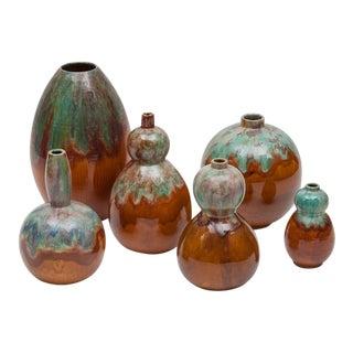 Primavera 6 Ceramic Vases 1930 For Sale
