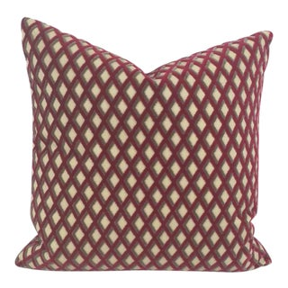 Manuel Canovas Banon Velvet Diamond Patterned Pillow Cover For Sale