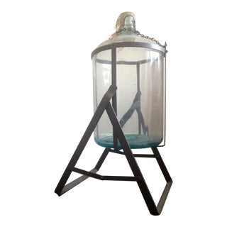 Vintage Carboy & Tipping Stand