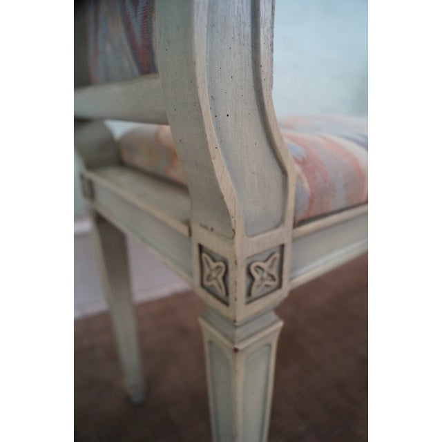 White Vintage French Louis XVI High Arm Window Bench For Sale - Image 8 of 10