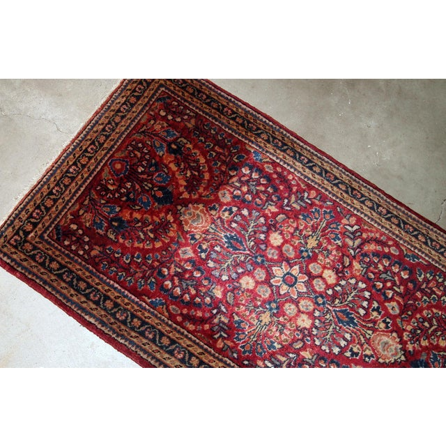 Traditional 1920s, Handmade Antique Persian Sarouk Rug 2.3' X 4.3' For Sale - Image 3 of 6