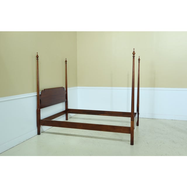 Statton Furniture Statton Old Towne Cherry Full Size Poster Bed For Sale - Image 4 of 9