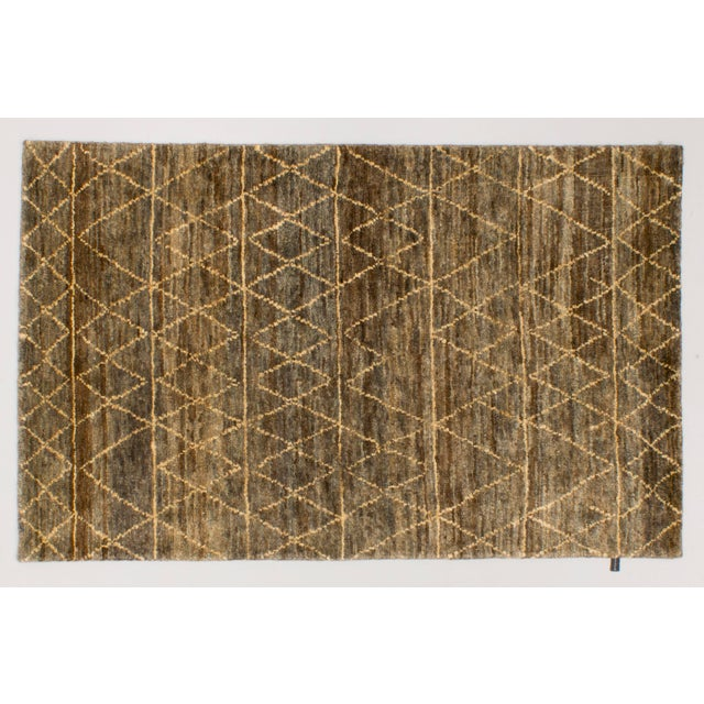 Solo Rugs Grit and Ground Collection Contemporary Moroccan Jute Hand-Knotted Area Rug, Brown , 5' X 8' For Sale - Image 4 of 4