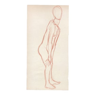 Standing Nude Drawing 1980s For Sale