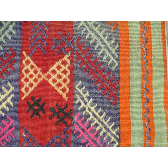 Vintage 1960s Turkish Kilim Pillow Cover - Image 2 of 3