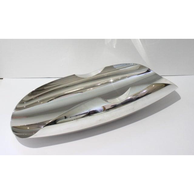 Vintage Sabattini Sayala Baguette Form Serving Dish Silver Plate For Sale - Image 11 of 12