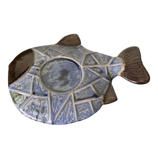 Mid-Century Ceramic Fish Tray For Sale