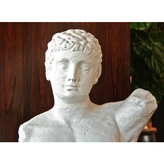 """Italian 1960s """"Etebo"""" Male Bust in Plaster For Sale - Image 4 of 8"""