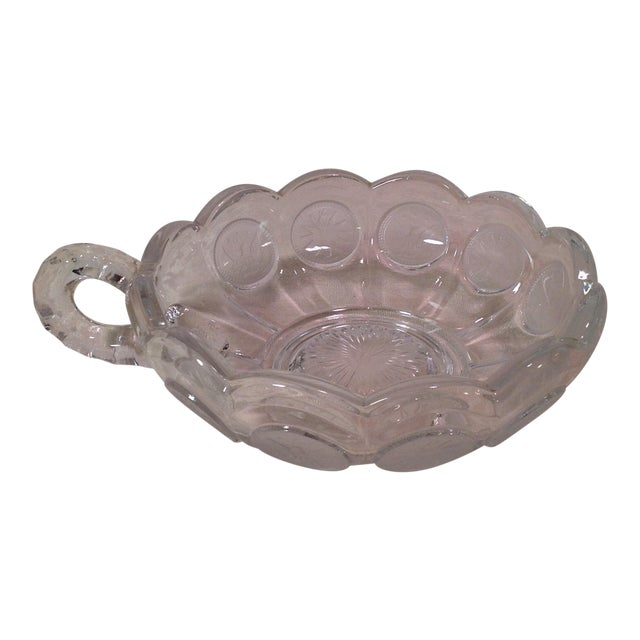 Mid-Century Modern Fostoria Olympic Coin Nappy Handled Dish For Sale