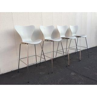 Set of 4 Barstools Designed by Arne Jacobsen for Fritz Hansen Preview