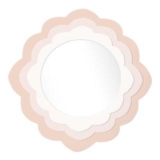 Fleur Home x Chairish Audobon Magnolia Circle Mirror in Pink Ground, 30x30 For Sale