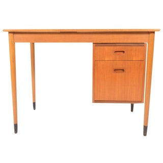 Swedish Modern Teak Writing Desk For Sale