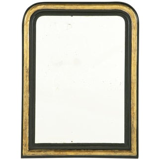 19th Century French Ebonized Giltwood Louis Philippe Mirror For Sale