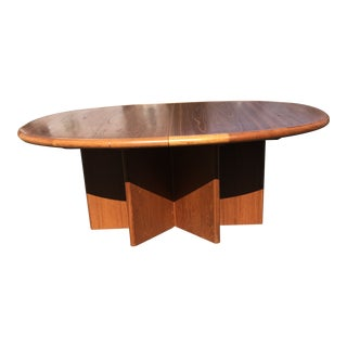 1970s Danish Modern Ansager Møbler Teak Extension Dining Table For Sale