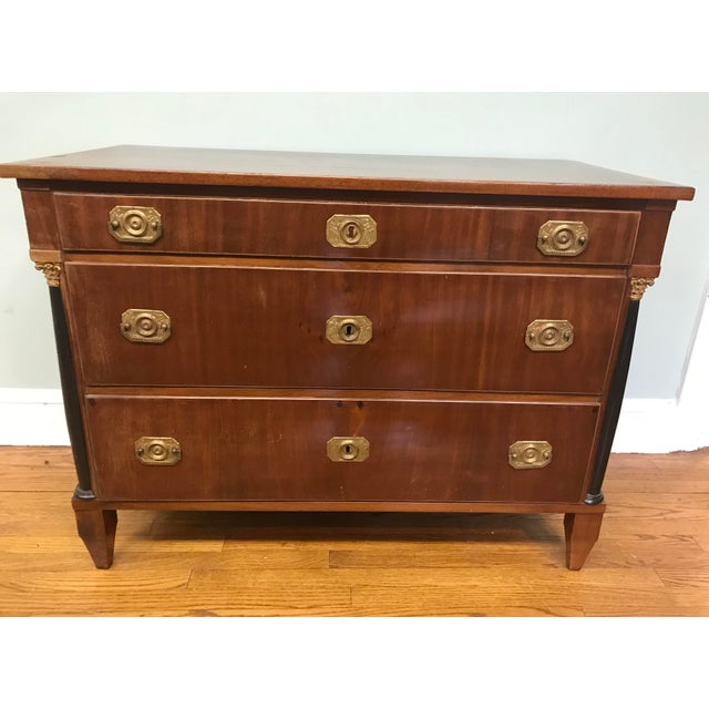 Early 19th Century Biedermeier Mahogany Commode For Sale - Image 5 of 6