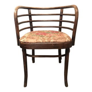 1920s Antique French Barrel Armchair For Sale