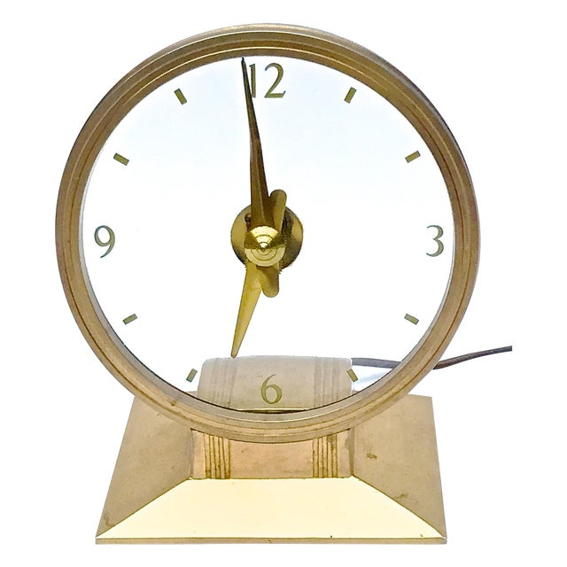 Vintage Art Deco Atomic Clock For Sale