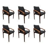 Image of Kai Kristiansen Dining Chairs - Set of 6 For Sale