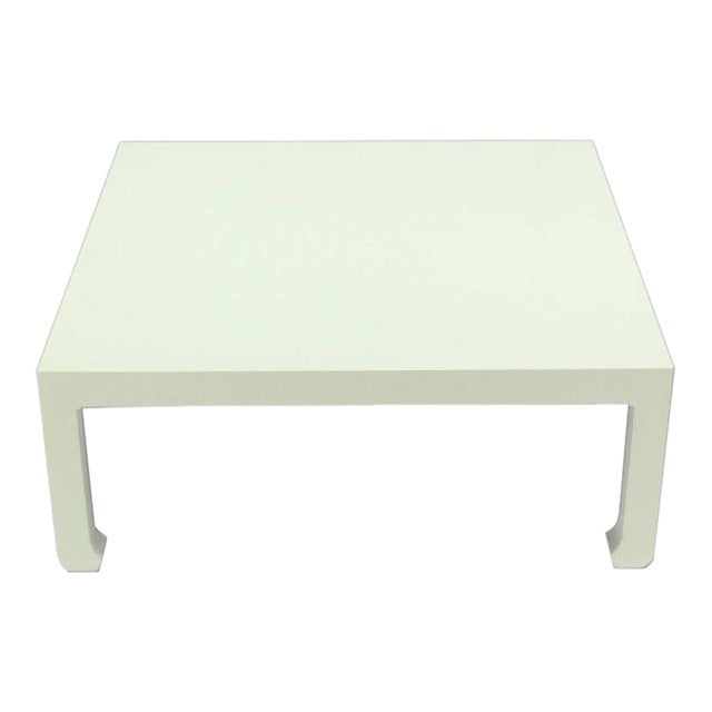 Vintage Mid Century Cloth Covered Square Coffee Table Chairish