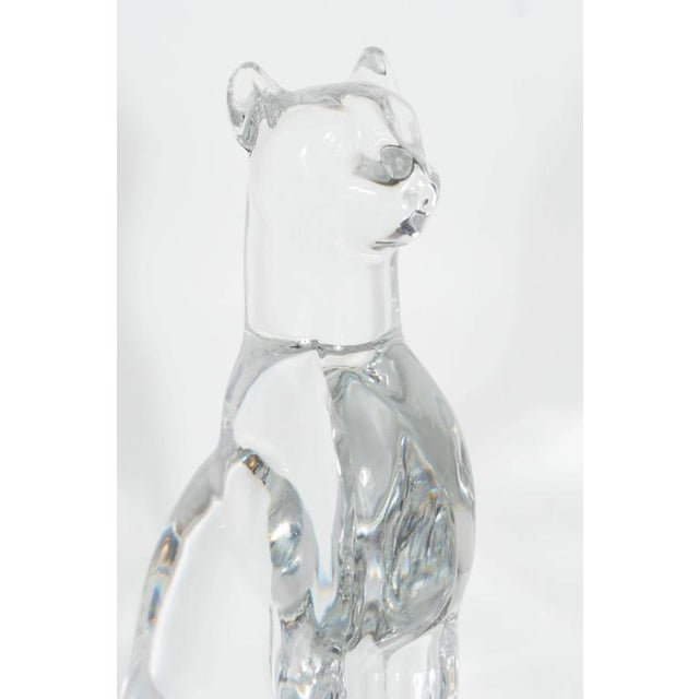 Baccarat Glass Paperweight of an Egyptian Cat For Sale In New York - Image 6 of 10