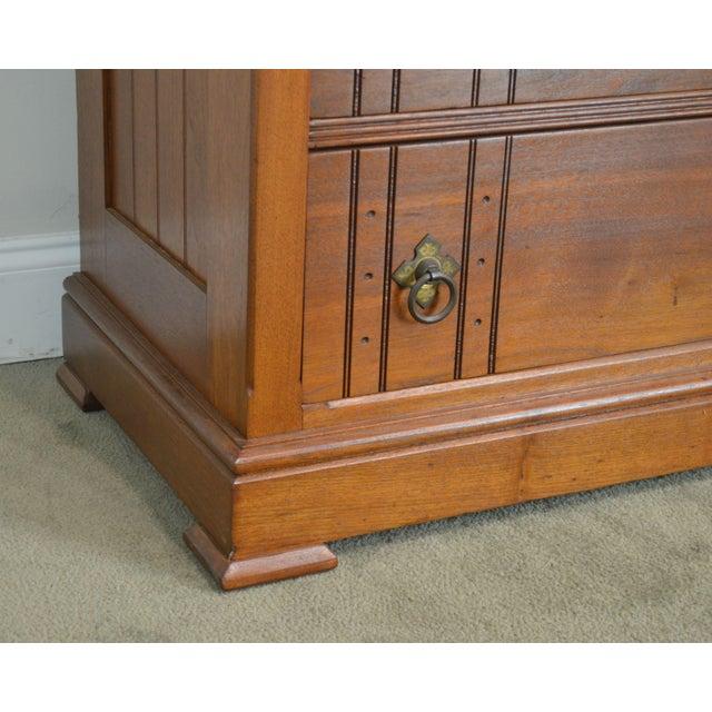 Antique Victorian Walnut Eastlake 4 Drawer Lock - Side High Chest For Sale - Image 11 of 12