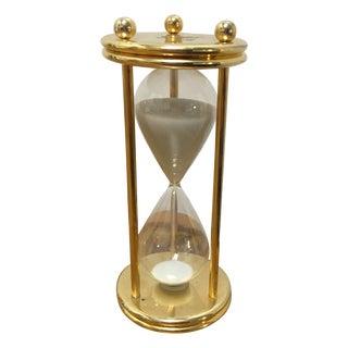 Brass White Sand Hourglass