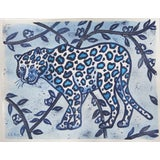 Image of Chinoiserie White Leopard Painting by Cleo Plowden For Sale