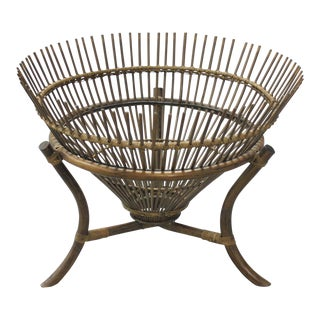 Vintage Franco Albini Style Fish Trap Side Table For Sale