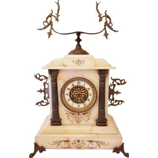 Late 19th Century Imperial Style French Mantle Clock For Sale