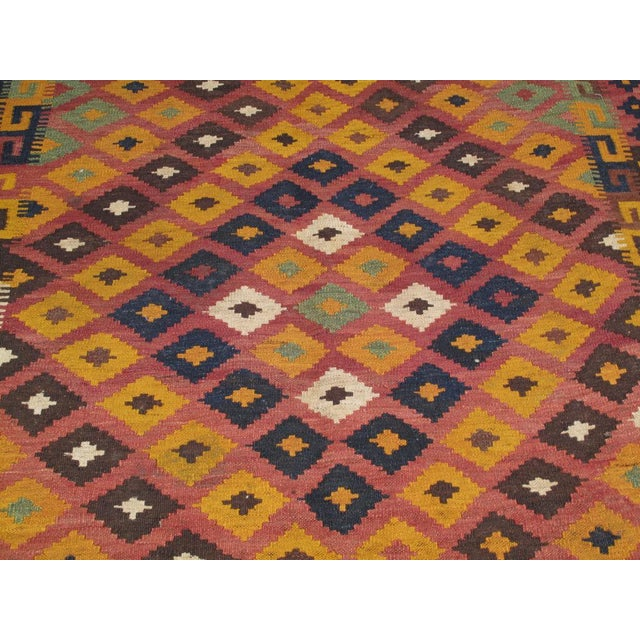 1950s Uzbek Kilim For Sale - Image 5 of 5