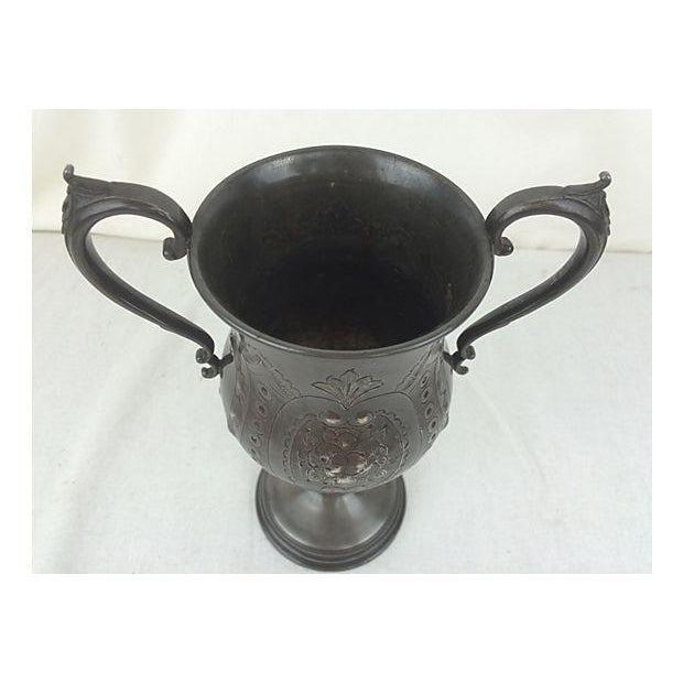 English Etched Pewter Loving Cup - Image 3 of 3