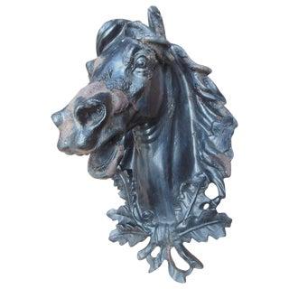 Antique Cast Iron Horse Head For Sale