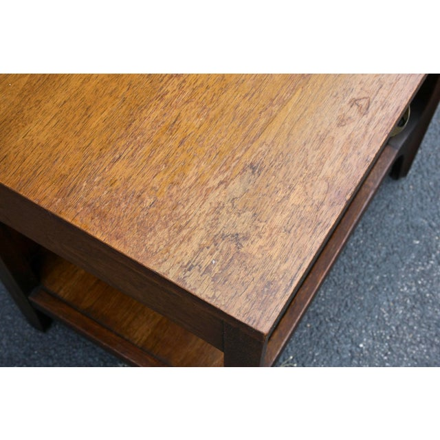 Brass Broyhill Brasilia Nightstand or Side Table For Sale - Image 7 of 11
