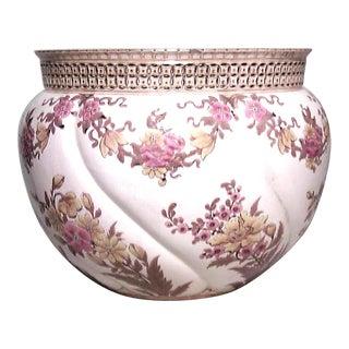 Hungarian Victorian Lusterware Pot For Sale