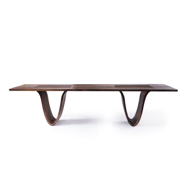 Not Yet Made - Made To Order Minimalist Walnut Dining Table For Sale - Image 5 of 5