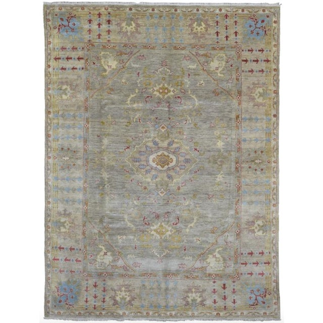 """Peshawar Hand Knotted Oriental Area Rug - 7'7""""x10' For Sale - Image 10 of 10"""