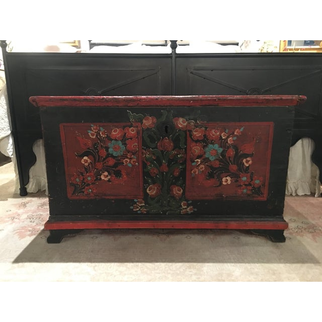 19th Century Painted Pine Chest For Sale - Image 9 of 9