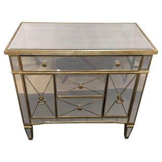 1960s Hollywood Regency Large Nightstand For Sale