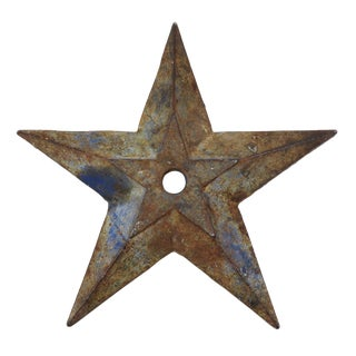 Vintage Cast Iron Architectural Star For Sale