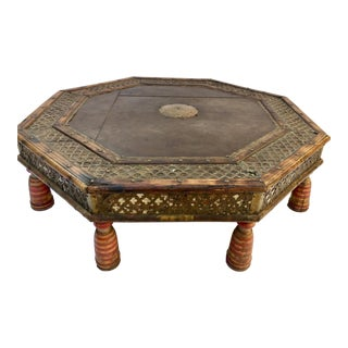 Anglo Raj Moorish Design Octagonal Low Coffee Table For Sale