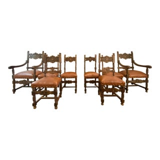 French Renaissance Revival Dining Chairs- Set of 8 For Sale