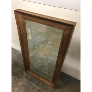 Antique Mid-Century Wood Framed Vanity Mirror Preview