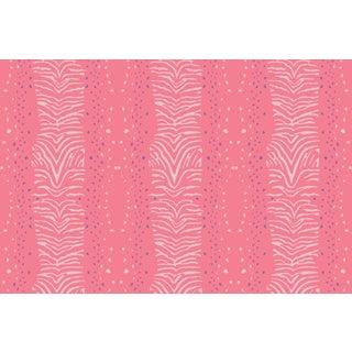 Zebra Strawberry Linen Cotton Fabric, 6 Yards For Sale