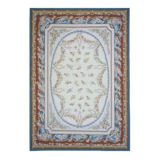 "Pasargad Aubusson Hand Woven Wool Rug - 11' 8"" x 17' 9"" For Sale"