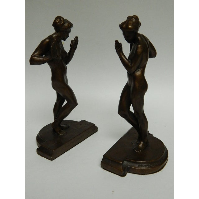 Harriet Whitney Frishmuth Bronze Sculpture Female Figure Bookends - a Pair For Sale - Image 13 of 13