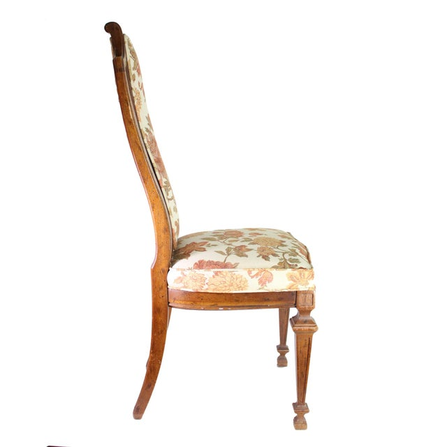 Drexel Heritage Vintage High Back Italian Provincial Chairs by Dixie Furniture Co - Set of 4 For Sale - Image 4 of 8
